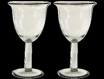 verres à vin tulipe verre soufflé lisse 2