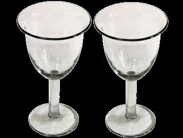 verres à vin tulipe verre soufflé lisse