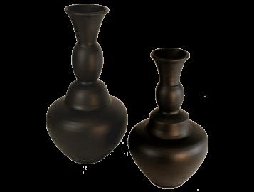 Grand vase noir design terre cuite 4