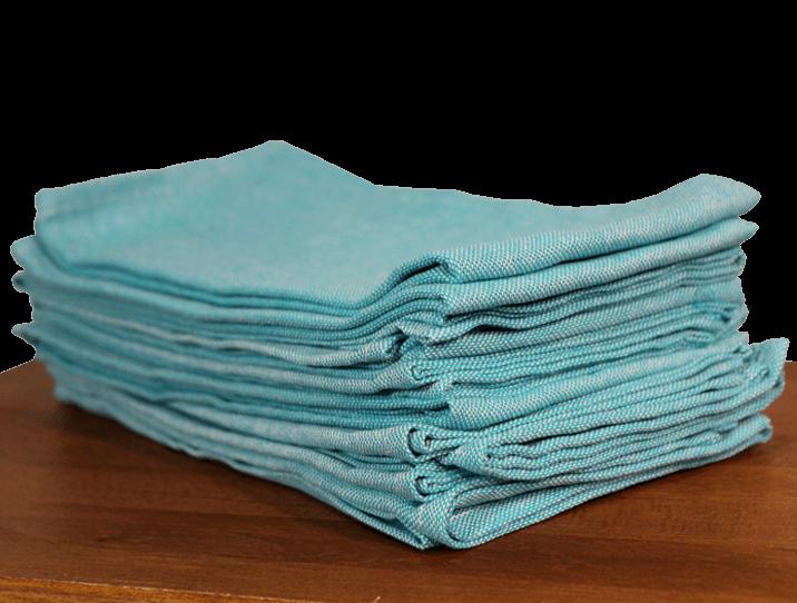 Serviettes De Table Coton Bleu Turquoise Comptoir Azur