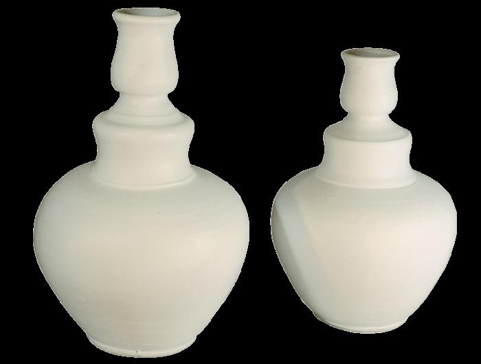 Grand vase blanc terre cuite 1