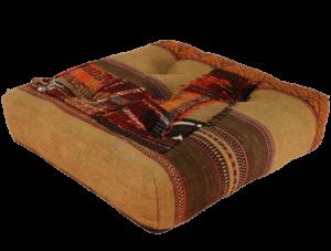 coussin de sol tissage kilim Artisanat d'art tunisien Comptoir Azur