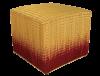 pouf tressé ikat rouge vannerie jonc