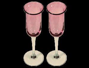 flutes champagne design verre souffle rose fete des meres