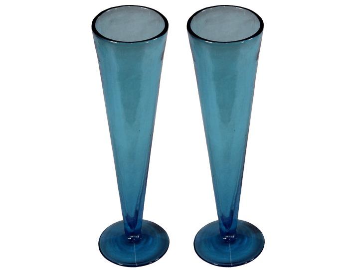fl tes champagne en verre artisanal verre souffl bleu turquoise. Black Bedroom Furniture Sets. Home Design Ideas
