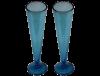 flutes champagne sans pied en verre souffle bleu turquoise
