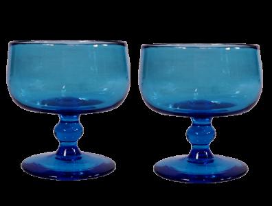 coupelles verre souffle bleu turquoise 2
