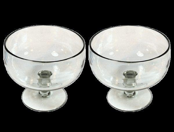 coupelles verre souffle incolore