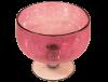 Saladier en verre soufflé rose 2