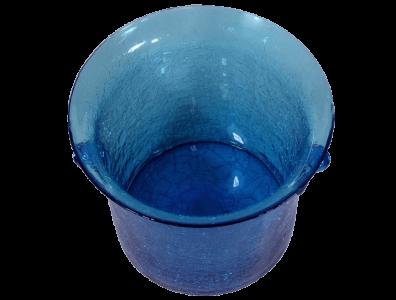 seau champagne en verre souffle bleu turquoise