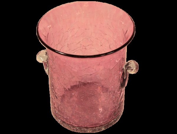 seau a glace mini en verre souffle rose