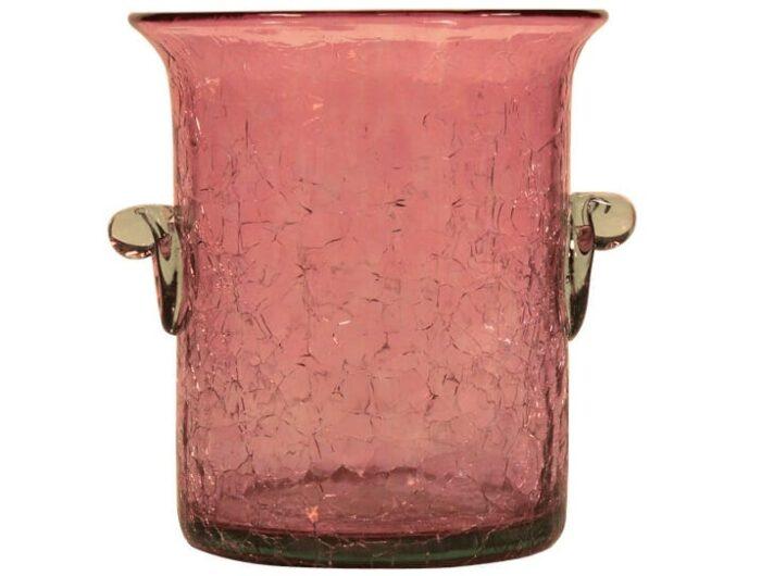 seau a glace mini en verre souffle rose 2