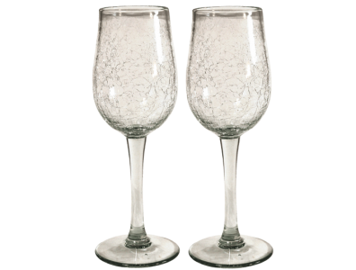 verres cocktail verre souffle craquele 2