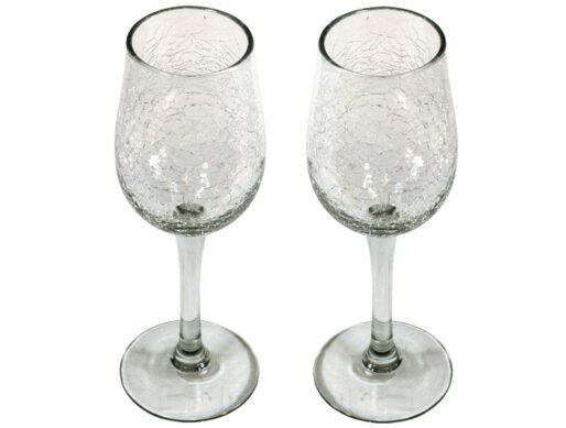 verres cocktail verre souffle craquele
