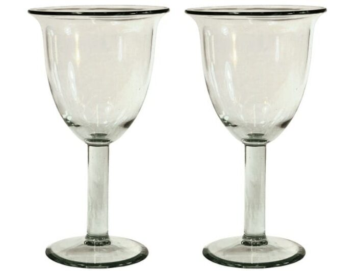 verres a cocktail tulipe verre souffle lisse 2