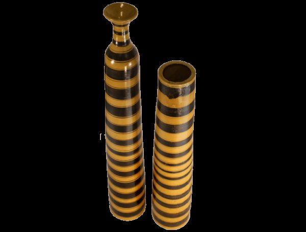 vase haut jaune terre cuite 2