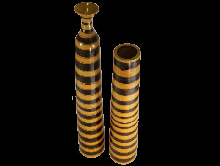 vase haut jaune en terre cuite maill e objet d artisanat tunisien paris. Black Bedroom Furniture Sets. Home Design Ideas