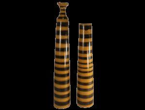 vase haut jaune terre cuite