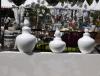 Grand vase blanc design terre cuite 4