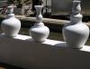 Grand vase blanc design terre cuite 2