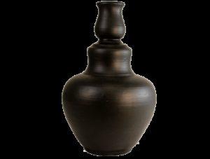 cadeau artisanal grand vase noir en terre cuite