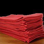 serviettes de table coton rouge