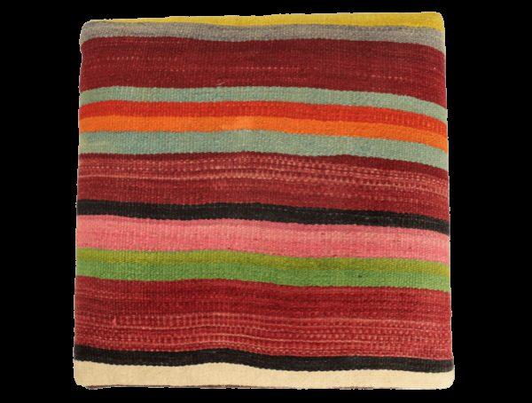 Tabouret ethnique kilim pieds rouges 3