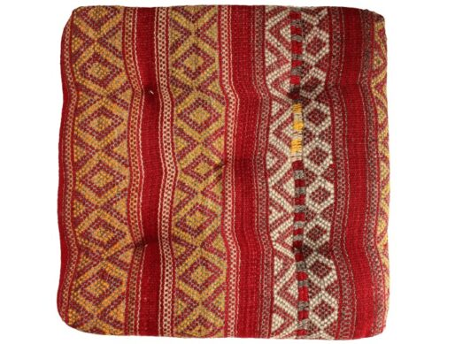 coussin de sol kilim orange produit artisanal. Black Bedroom Furniture Sets. Home Design Ideas