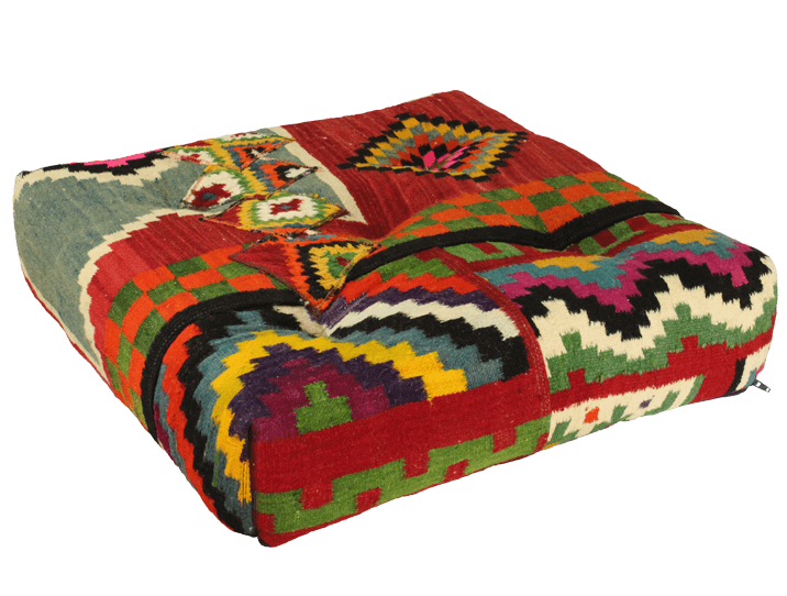 coussin de sol 60x60 kilim flashy pour une d coration d int rieur ethnic chic. Black Bedroom Furniture Sets. Home Design Ideas