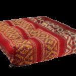 coussin de sol 60x60 kilim rouge 3