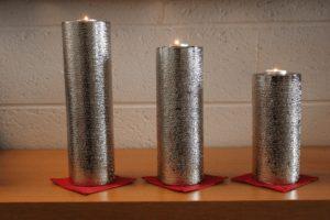 Bougeoirs cylindre cuivre martelé mettez votre linge de maison en valeur