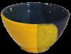 bol dejeuner ceramique emaillee jaune bleue 2
