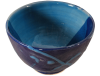 bol dejeuner ceramique emaillee bleue 3