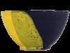 bol dejeuner ceramique emaillee jaune bleue