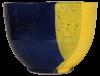 saladier terre cuite emaillee jaune et bleue grand 3