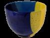 saladier terre cuite emaillee jaune et bleue grand 2