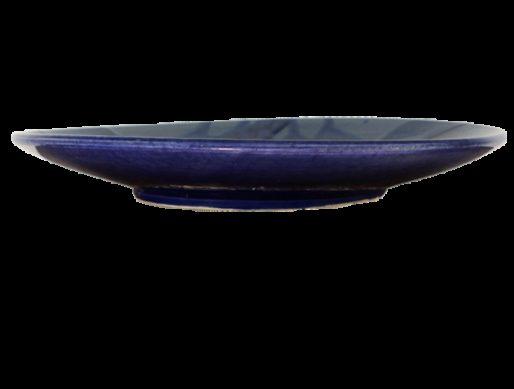 Assiette de présentation en terre cuite bleue 2