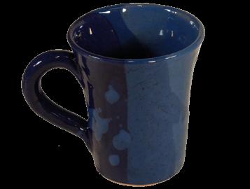 mugs originaux en terre cuite émaillée bleue 2