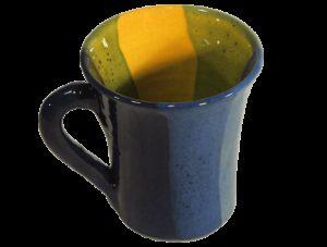 artisanat cadeau mug aux chaudes couleurs méditerranéennes