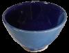 coupelles apero terre cuite emaillee bleue