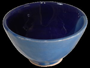 coupelles apéritif terre cuite émaillee bleue idée cadeau noel