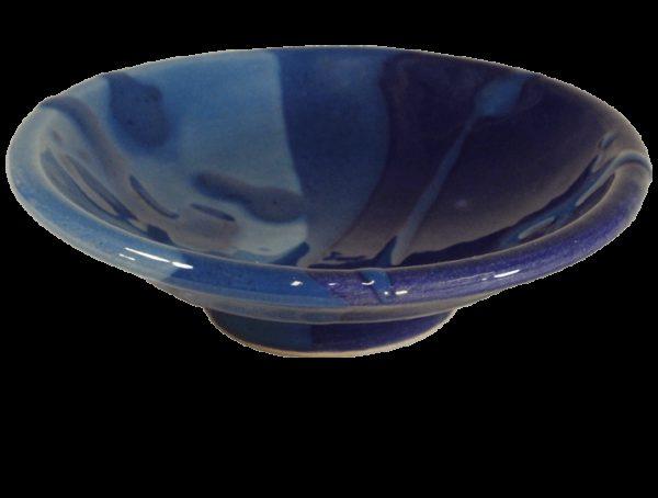 coupelles apero en terre cuite emaillee bleue