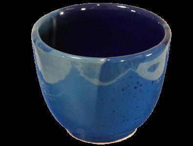 gobelet café en céramique émaillée bleu
