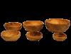 presentoir aperitif en bois d'olivier 2