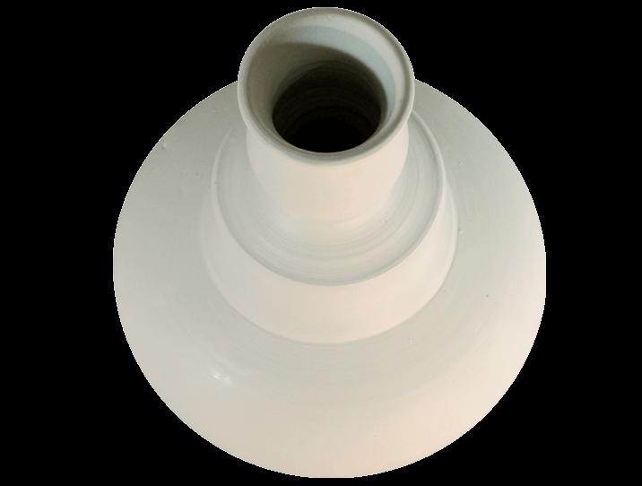 grand vase blanc en terre cuite produit artisanal. Black Bedroom Furniture Sets. Home Design Ideas