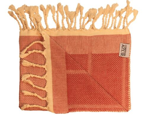 Set de toilette fouta rouge uni