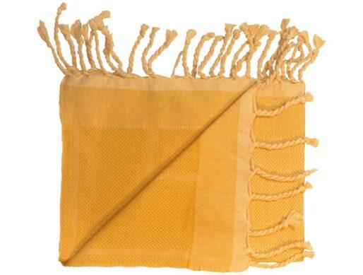 fouta jaune unie bandes chevrons 2