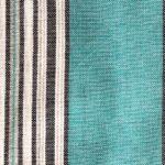 nappe en coton bleu turquoise rectangulaire 2