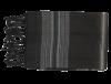 echarpe cheche noire rayee vert 3