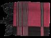 echarpe fushia et noire coton raye